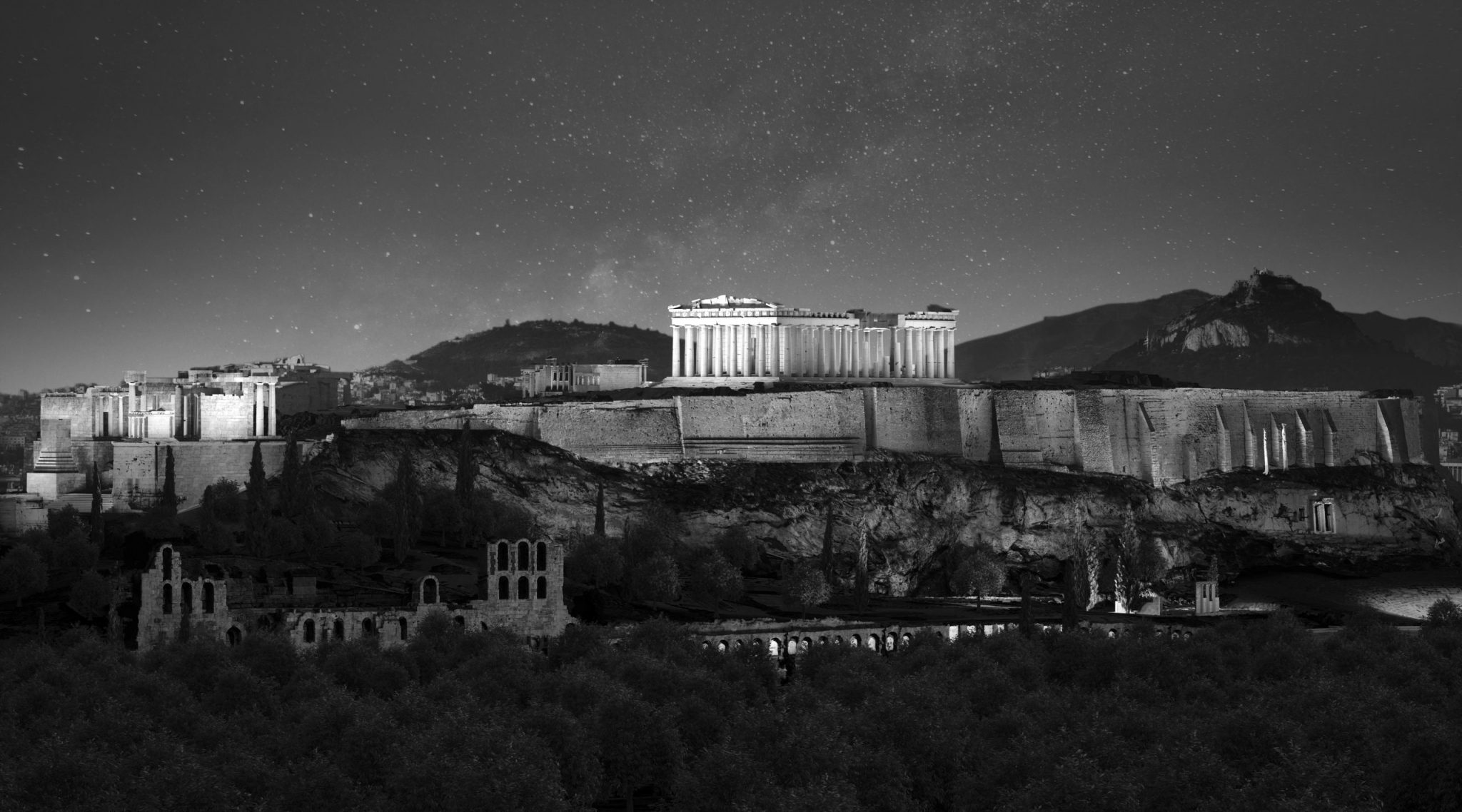 Render_Lighting Design for the Acropolis of Athens
