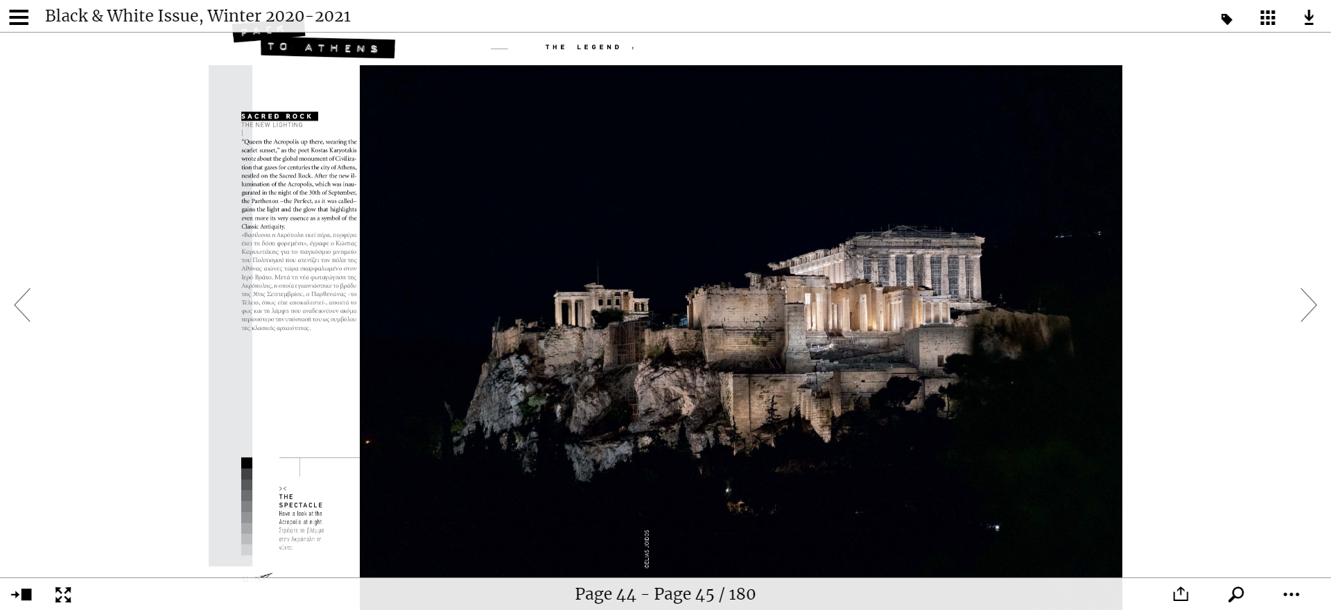 2 board the legend magazine acropolis of athens